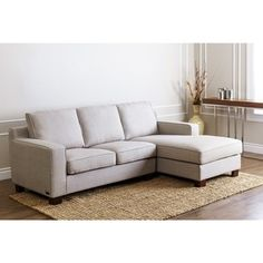 ABBYSON LIVING 'Beverly' Grey Fabric Sectional Sofa - 15914592 - Overstock - Big Discounts on Abbyson Living Sectional Sofas - Mobile