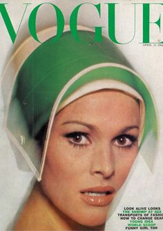 ursula andress- the 1st & still hottest 007 James Bond Girl! (1962 Dr. No) • here on 1966-04 Vogue mag cover, photographed by Duffy  • www.imdb.com/name/nm0000266/?ref_=sr_1