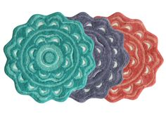Reminiscent of the Flower Power, this Jessica Simpson Medallion shaped bath rug adds a groovy touch to your bathroom decor. Crafted of absorbent, plush cotton and machine washable, this lovely piece is available in three color options. Bath Linens, Bath Rugs, Bath Towels, Beach House Bathroom, Small Bathroom, Bathrooms, Linen Store, Rug Store, Best Bath