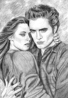 Edward and Bella drawing | Bella and Edward by ~lupinemagic on deviantART