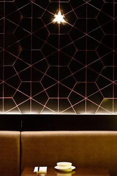 Academy Tiles | Project 2677 - Restaurant using black gloss Aya wall tiles (Feza 72502).