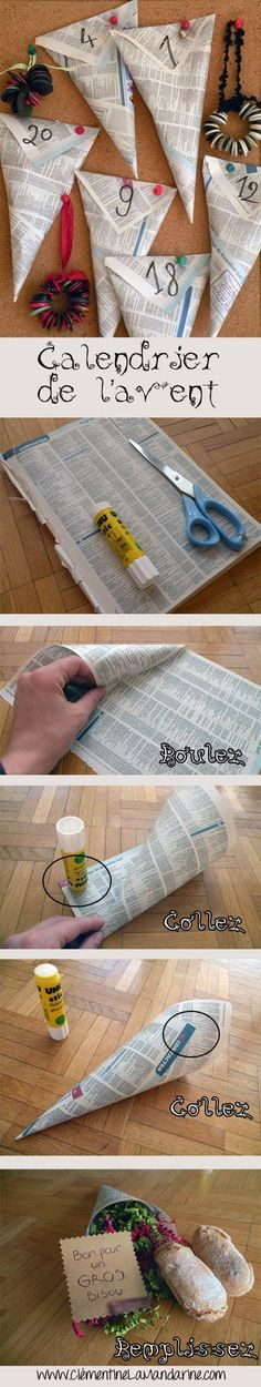 Brico de Noël : le calendrier de l'avent   like this idea of using pages from an old phone book
