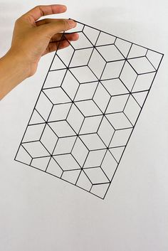 Grid Paper Cutting by Crissy Tioseco
