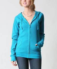 42POPS Jade Thermal Zip-Up Hoodie | zulily - $16.99 $45.00 size: size chart  M L Product Description:  This chilly-weather basic features two pockets to keep hands warm and store essentials. Thermal fabric delivers all-day comfort.      54% cotton / 44% polyester / 2% spandex     Hand wash     Imported