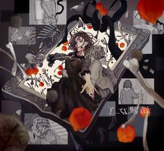 Vocaloid, Character Illustration, Illustration Art, Complex Art, Anime Cover Photo, Anime Halloween, Dark Art Illustrations, Dark Fantasy Art, Japanese Artists