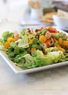 mango, prawns, avocado, baby cos lettuce + chilli & lime dressing