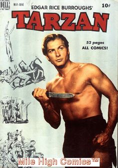 Edgar Rice Burroughs' Tarzan (May-Jun Dell) for sale online Tarzan Of The Apes, Tarzan And Jane, Vintage Comic Books, Vintage Comics, Old Comics, Marvel Dc Comics, Tarzan Johnny Weissmuller, Tarzan Movie, Hooray For Hollywood