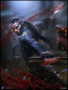 Character design and concept development - Sci-fi Samurai - Regular version by VladMRK