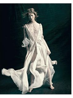 È ALTA MODA: Julie Hoomans by Paolo Roversi for Vogue Italia March 2016 - Valentino Spring 2016 Haute Couture