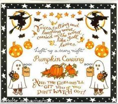 Halloween stickers by Susan Branch