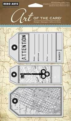 Attention Tags - Cling Rubber Stamps