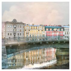 Large wall art print St Petersburg city view by RivuletPhotography