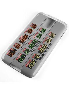 Funda para 'smartphone' con el tablero de instrumentos del Delorean. Disponible para iPhone 4/4S, iPhone 5/5S, iPhone 6, iPhone 6Plus y Samsung S3/S4/S5. De Game Dude (18,10 euros aprox.).