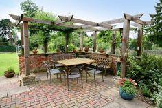 L shaped pergola | Back Porches or Decks | Pinterest ...