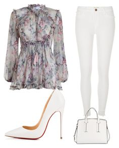 """‍♀️‍♀️‍♀️‍♀️‍♀️"" by wilsonaelyssa on Polyvore featuring Zimmermann, River Island, Christian Louboutin and French Connection"