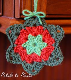 ☆ Petals to Picots Crochet: Granny Star Pattern. ☆ * The original version. Thanks so much for sharing a free pattern and  a most heartwarming story about the Granny Star creation. ㋡
