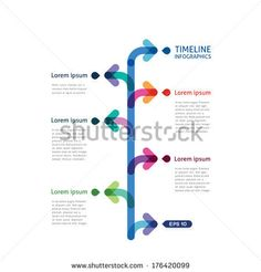 timeline infographics with arrows - stock vector
