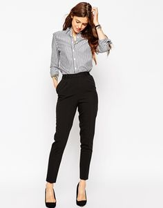 ASOS | ASOS Pants in High Waist with Straight Leg at ASOS