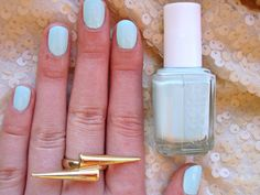 Monday Nail   Essie Mint Candy Apple Nails and my new fav Gold ring <3 More swatches on the blog