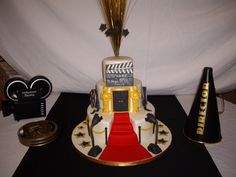 Decor Hollywood Party Decorations Cake With Some Degree Of The Shape Of Award Ceremony And Like The Red Carpet Which Characterizes The Event Also There Are Several Other Ornaments Complementary Buy Hollywood Party Decorations for Your Thematic Party