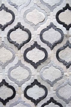 Reflect pattern in cream, charcoal, and silver