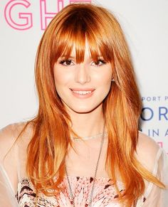 strawberry blondhair fringe - Google Search