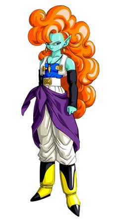Zangya from Dragon Ball Z: Bojack Unbound Dragon Ball Gt, Dragon Ball Image, Female Goku, Dbz Characters, Dragon Quest, Demon Girl, Poses, Amazing Drawings, Character Art