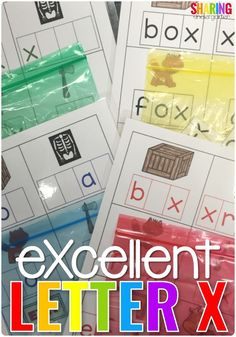 eXcellent Letter X #abcactivities #letterx