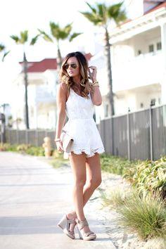 Little White Romper | Coronado Beach, CA For All Things Lovely waysify