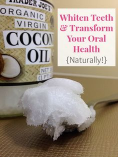 Crystal from Natural Thrifty recommends oil pulling to get your teeth sparkly white. Oil pulling is very easy. Just put about a tablespoon of coconut oil in your mouth, swish it around (especially through around your teeth) for 15 minutes or so, then afte Coconut Oil Pulling, Coconut Oil Uses, Health And Beauty Tips, Health Tips, Natural Teeth Whitening, Tips Belleza, Oral Health, Teeth Health, Health Products