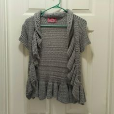 Sweet & Sinful Cardigan Juniors Large Sweet & Sinful gray cardigan. Never worn. Sweet & Sinful Sweaters Cardigans