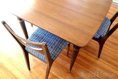 Restoring a mid century modern dining set {Sawdust and Embryos}