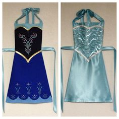 Frozen Anna and Elsa Reversible Dress-Up por ReversibleRoyalty Cute Costumes, Disney Costumes, Halloween Costumes For Kids, Halloween Stuff, Childrens Dressing Up, Dress Up Aprons, Princess Aprons, Childrens Aprons, Cool Aprons
