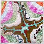 River Fish - fractal art quilt