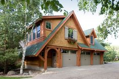 Craftsman style wood garage door design pictures remodel for Murphy garage doors