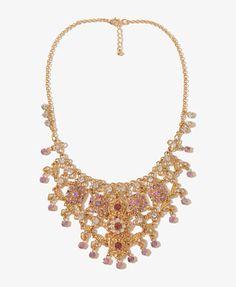 Rhinestoned Linked Bib Necklace | FOREVER21