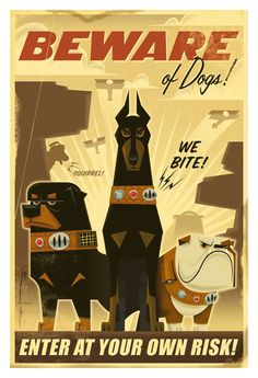 Beware of Dogs - Up concept art #poster