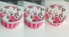 Usa rollitos de foamy o goma eva para crear hermosas cajas Rose Petals, Birthday Cards, Scrap, Organization, Sewing, Youtube, Baskets, Towel Crafts, Craft Rooms