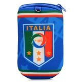 World Cup Italy Football Team Emblem Pattern Cellphone Zipper Pouch - Multicolor
