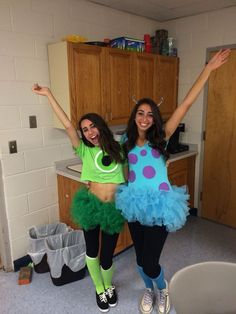 Mike and Sully, costume, DIY