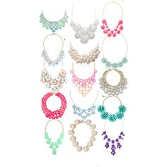 Statement necklaces!