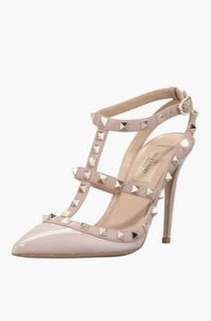 Lovely Clusters Shop: Valentino Rockstud Patent T-Strap Pump