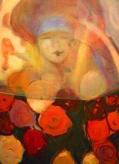 ⊰ Posing with Posies ⊱ paintings of women and flowers - Ledün Nâsir
