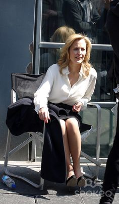Gillian Anderson in The Fall - behind the scenes