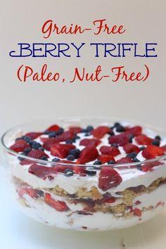 Grain Free Berry Trifle (Paleo)