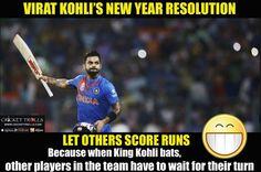 Virat Kohli's New Year Resolution for 2017  For more cricket fun click: http://ift.tt/2gY9BIZ - http://ift.tt/1ZZ3e4d