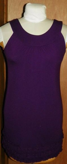 148946f180 Belle Du Jour Deep Purple Sleeveless Dress with Ruffled Bottom Juniors Sz  Small #BelleDuJour #