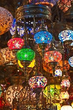 """Buy the royalty-free Stock image """"Traditional turkish lanterns in a small shop"""" online ✓ All image rights included ✓ High resolution picture for print, . Turkish Lanterns, Turkish Lamps, Hanging Lanterns, Candle Lanterns, Turkey Country, Souvenir Store, Heavenly Places, Store Image, Chandelier Lamp"""
