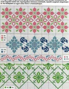Sampler Vol. 7 - Cross Stitch - Designs By Janet Sansom Cross Stitch Borders, Crochet Borders, Cross Stitch Flowers, Counted Cross Stitch Patterns, Cross Stitch Charts, Cross Stitch Designs, Cross Stitching, Beaded Embroidery, Cross Stitch Embroidery