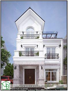 Biệt thự vinhomes riverside, biệt thự 3 tầng mái thái NDBT3T2 mẫu biệt thự 3 tầng mái thái được chúng tôi thiết kế và thi công thuộc dự án của vinhomes riverside tại Gia Lâm hà Nội